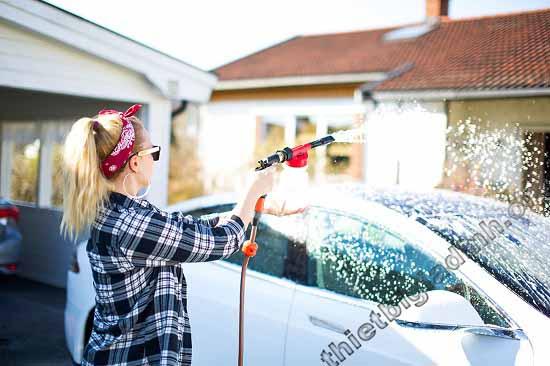 Máy rửa xe giúp đem lại những tiện ích hết sức rõ ràng