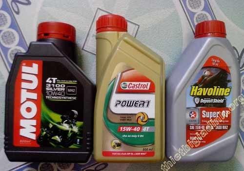Lựa chọn các loại dầu nhớt phù hợp thay cho xe Exciter