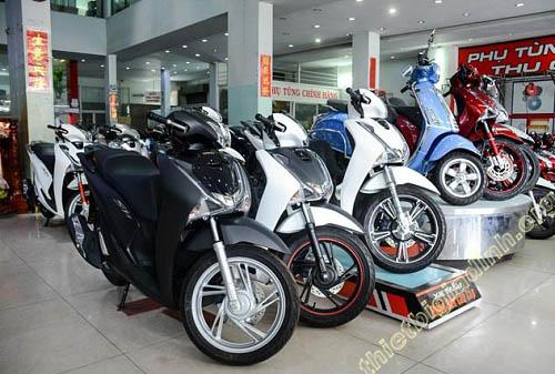 Xe máy Honda được đông đảo người sử dụng