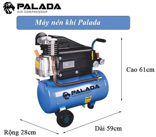 Máy nén không khí mini đến từ thương hiệu Palada có kích thước nhỏ