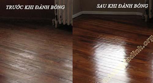 Đánh bóng sàn thường xuyên sẽ giúp sàn sáng bóng, đẹp mắt
