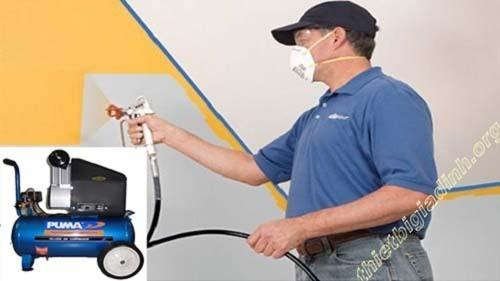 Máy nén khí không dầu mini Puma được nhiều người sử dụng trong việc phun sơn