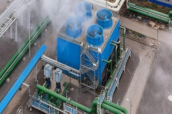 Tháp hạ nhiệt nước được lắp đặt trong các khu công nghiệp