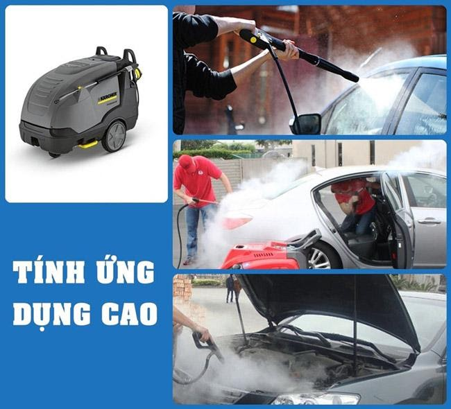 Máy rửa xe nước nóng cho khả năng làm sạch hiệu quả