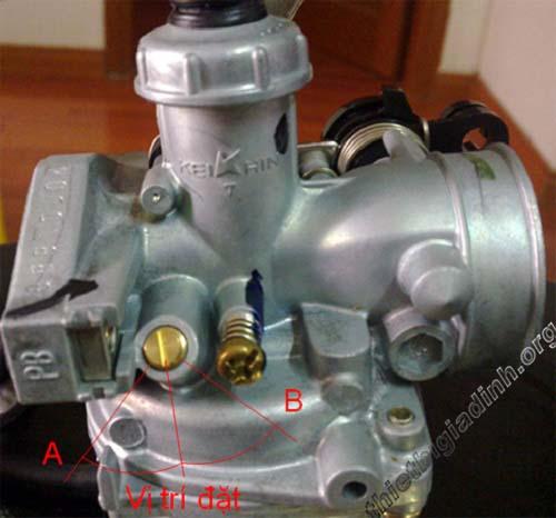 cách chỉnh bộ chế hòa khí xe máy