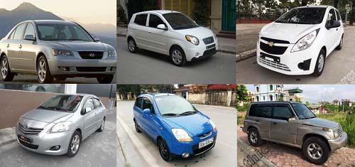 xe ô tô cũ giá khoảng 200 triệu