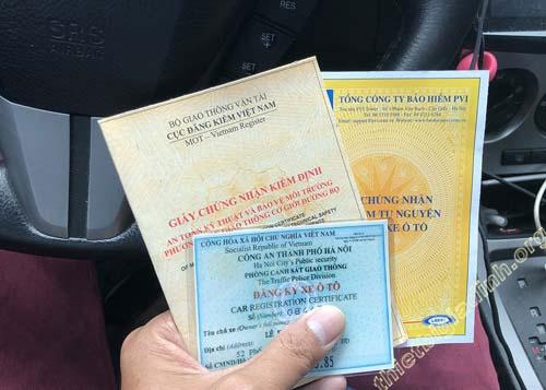Các loại giấy tờ quan trọng cần mang khi lưu thông trên đường