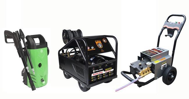 Máy rửa xe chạy điện rất đa dạng