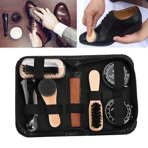 Sau khi đánh giày xong, bạn nên xếp gọn dụng cụ vào hộp