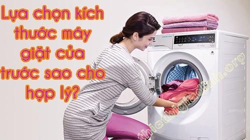 Kích thước máy giặt cửa trước