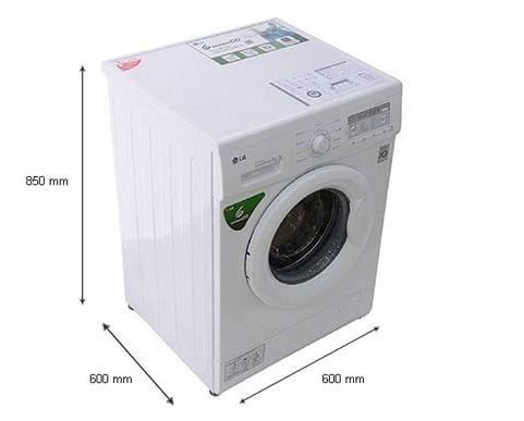 Kích thước máy giặt cửa trước 7kg