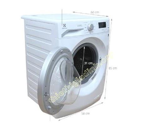 Kích thước máy giặt cửa trước 8kg