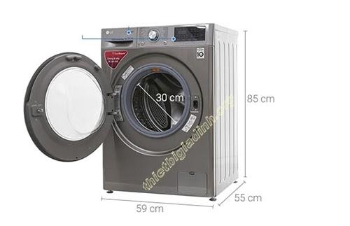 Kích thước của máy giặt cửa trước 9kg