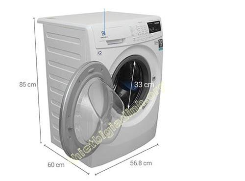 Kích thước máy giặt cửa trước 10kg