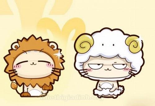 cung sư tử và bạch dương