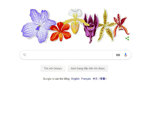 Google để biểu tượng hoa lan nhằm tôn vinh giáo sư Rapee Sagarik