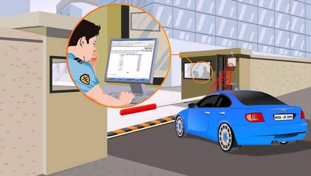 hệ thống kiểm soát xe ra vào